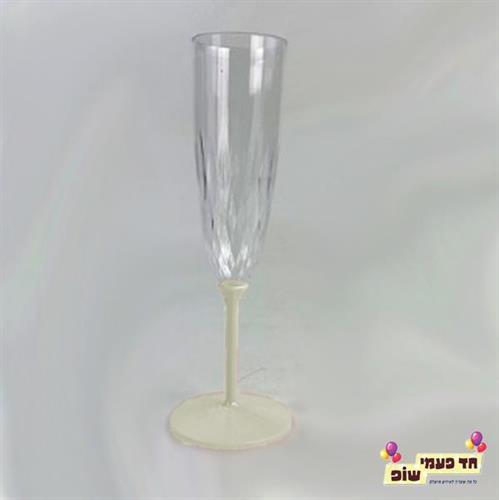 כוסות שמפניה רגל קרם