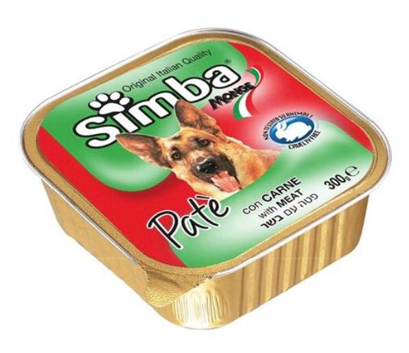 סימבה מעדן פטה לכלב 300 גר -בקר-