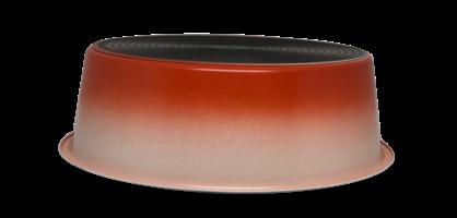 קערת מזון מעוצבת White Orange עם גומי בתחתית למניעת החלקה בנפח 2.4 ליטר