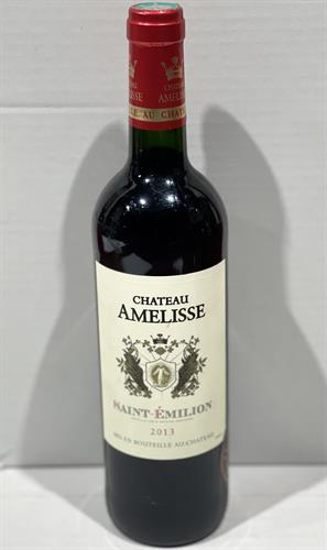 "יין צרפתי  CHATEAU AMELISSE  SAINT EMILIONl אדום יבש 750 מ""ל"