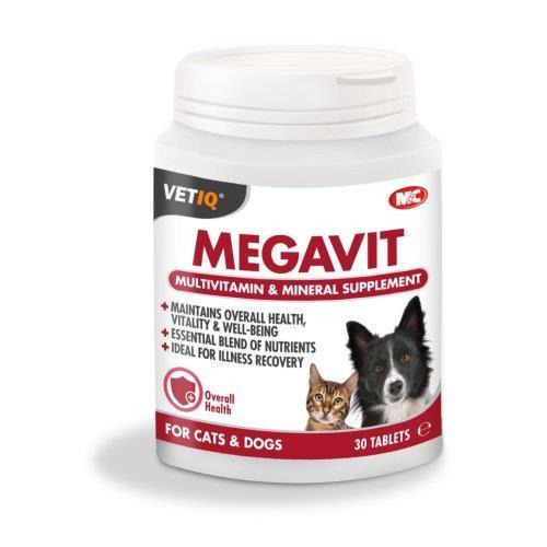 מולטי-ויטמין -ויטמינים לכלבים וחתולים (30 יח')