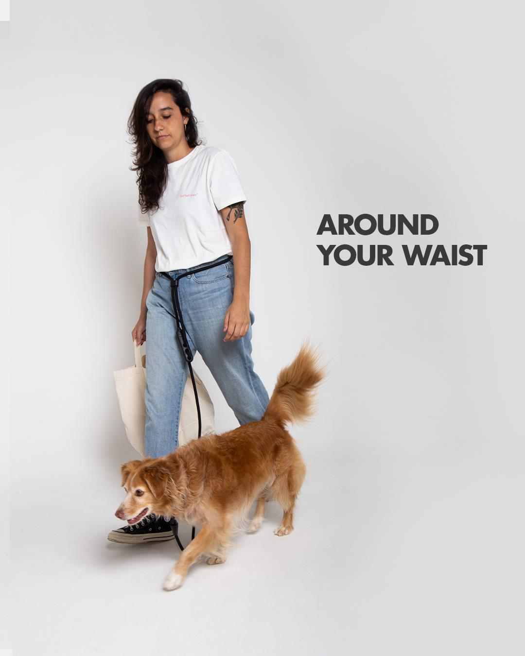 HANDS FREE LEASH רצועה לכלב