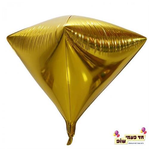 בלון יהלום 24 אינץ' זהב (ללא הליום)