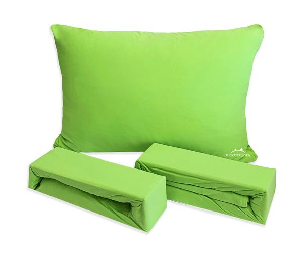 סדין ג'רסי טריקו + ציפית מתנה! צבע ירוק (מבצע על 2)