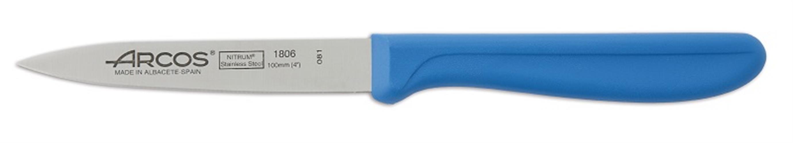 """סכין ירקות חלקה 10 ס""""מ ידית כחולה - מבית ARCOS המותג המקורי מספרד!"""