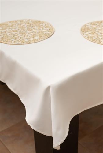 מפת שולחן איכותית ועבה White - לבן חלק