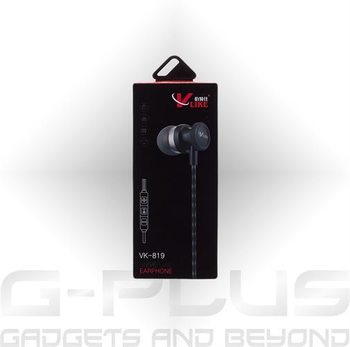 אוזניות V-LIKE 819 + בקר עוצמה
