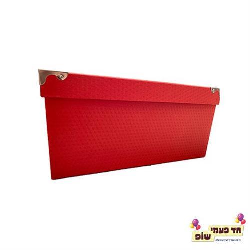 קופסא מתכת אדום מידה 5