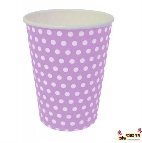 כוסות חמות סגול נקודות