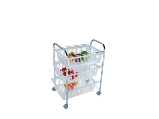 אגרן ירקות מנירוסטה אל חלד מגירות פלסטיק  3 קומות