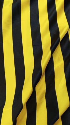 סאטן פסים צהוב שחור