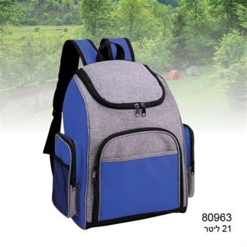 תיק גב צידנית 21 ליטר צבע כחול  מותג פולו 80963  - 3105