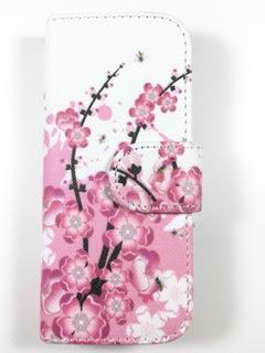 מגן ספר לK34 KOSHER MOBILE דגם פרחים ורוד
