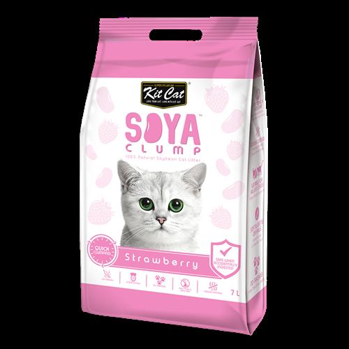 חול חתולים אורגני סויה בניחוח תות שדה 7 ליטר
