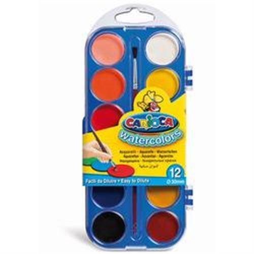 צבעי מים CARIOCA-12 יחידות
