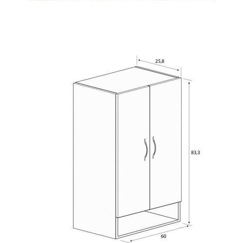 ארון תלייה 2 דלתות  דגם BD-1