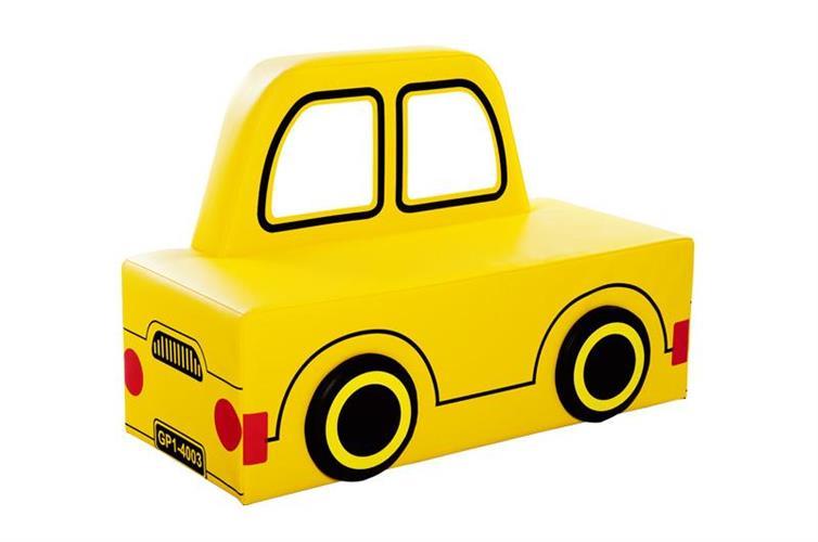 ספה תלת מושבית דגם מכונית צהובה