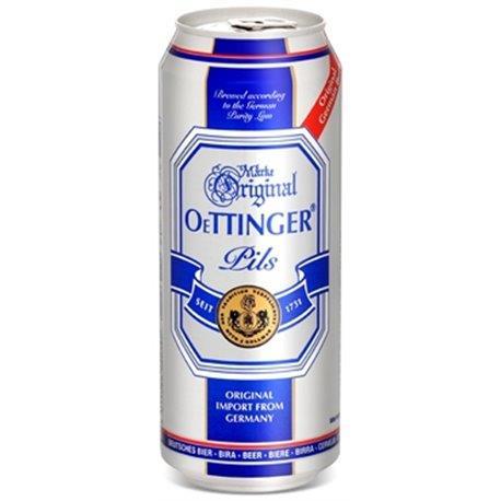 """בירה פחיות אותינגר 500 מ""""ל  אפור פילס  גרמנית - מבצע 2 קרטון * 24 יח'"""