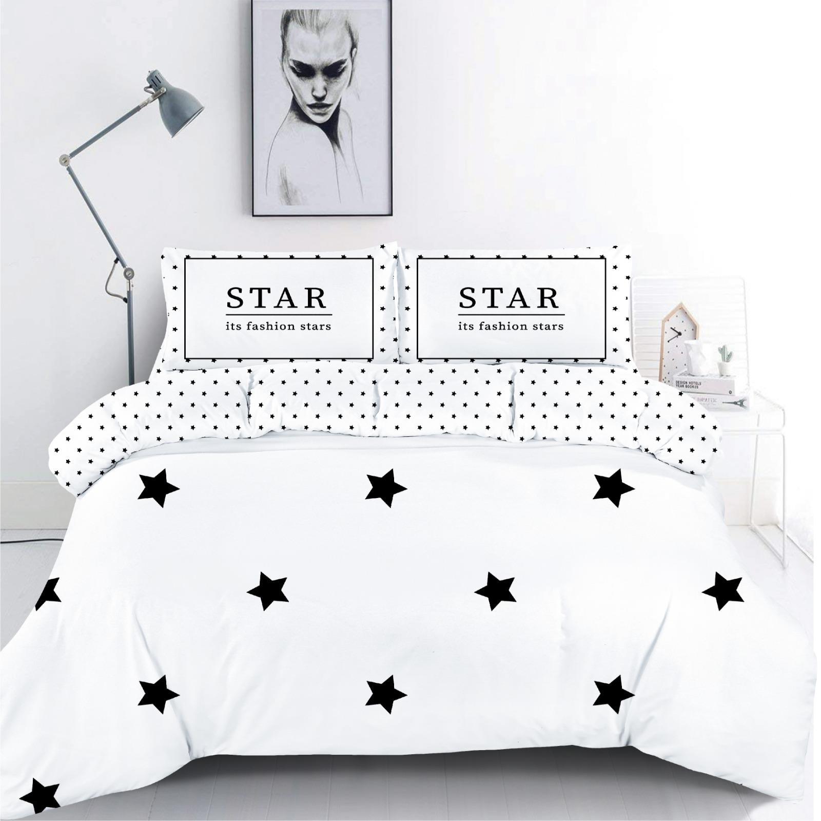 סט מצעים מיטה וחצי 100% כותנה Stars