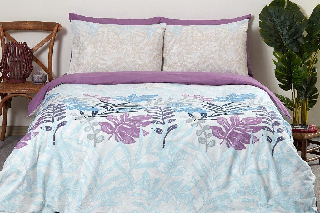 """מצעים למיטה מתכוננת 100% כותנה """"טולוז סגול"""""""