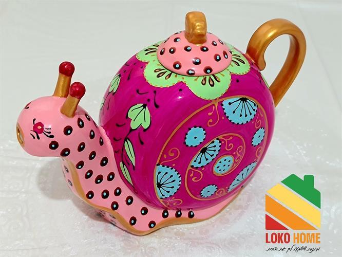 Elegant snail kettle
