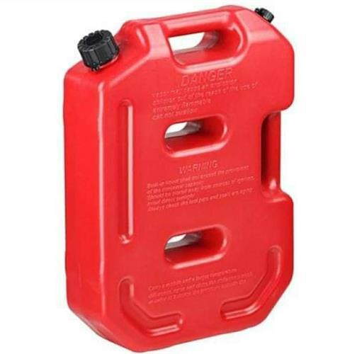 מיכל גר'יקן  דלק או מים שטוח 10 ליטר צבע אדום ללא מתקן תלייה ומנעול