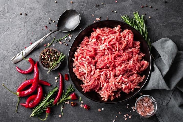 בקר טחון 80% עם שומן כבש 20% לקבב או ארעייס טרי/קפוא