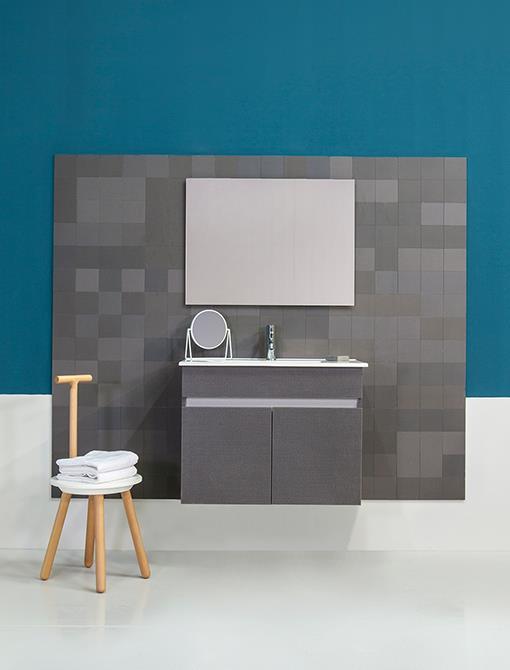 ארון אמבטיה דגם ניו יורק צבע מולבן