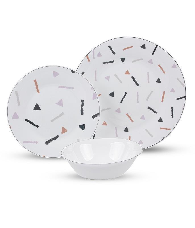 סט צלחות זכוכית מעוצבות Auto spriklers מבית פוד אפיל (Food Appeal), 18 חלקים