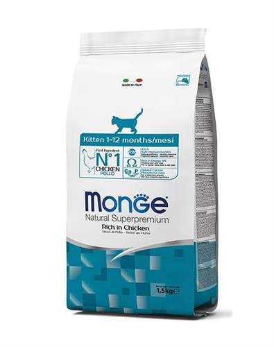 """8009470004817 מזון יבש לגורי חתולים בטעם עוף 10 ק""""ג Monge"""