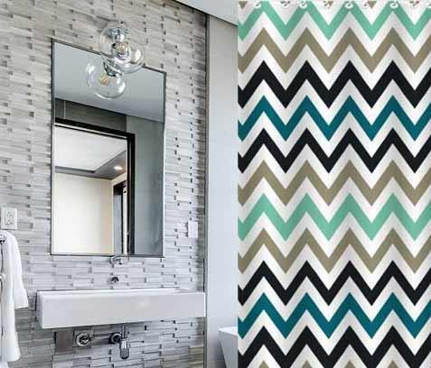 וילון אמבטיה מודפס דגם זברה - Zebra