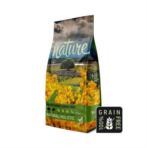 """נייצ'ר – מזון הוליסטי לכלבים, היפואלרגני, נטול דגנים, 70% בשר טלה, 12 ק""""ג – Nature"""