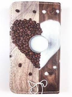 מגן ספר אונברסלי סמול סייז SMALL SIZE דגם 'לב קפה'