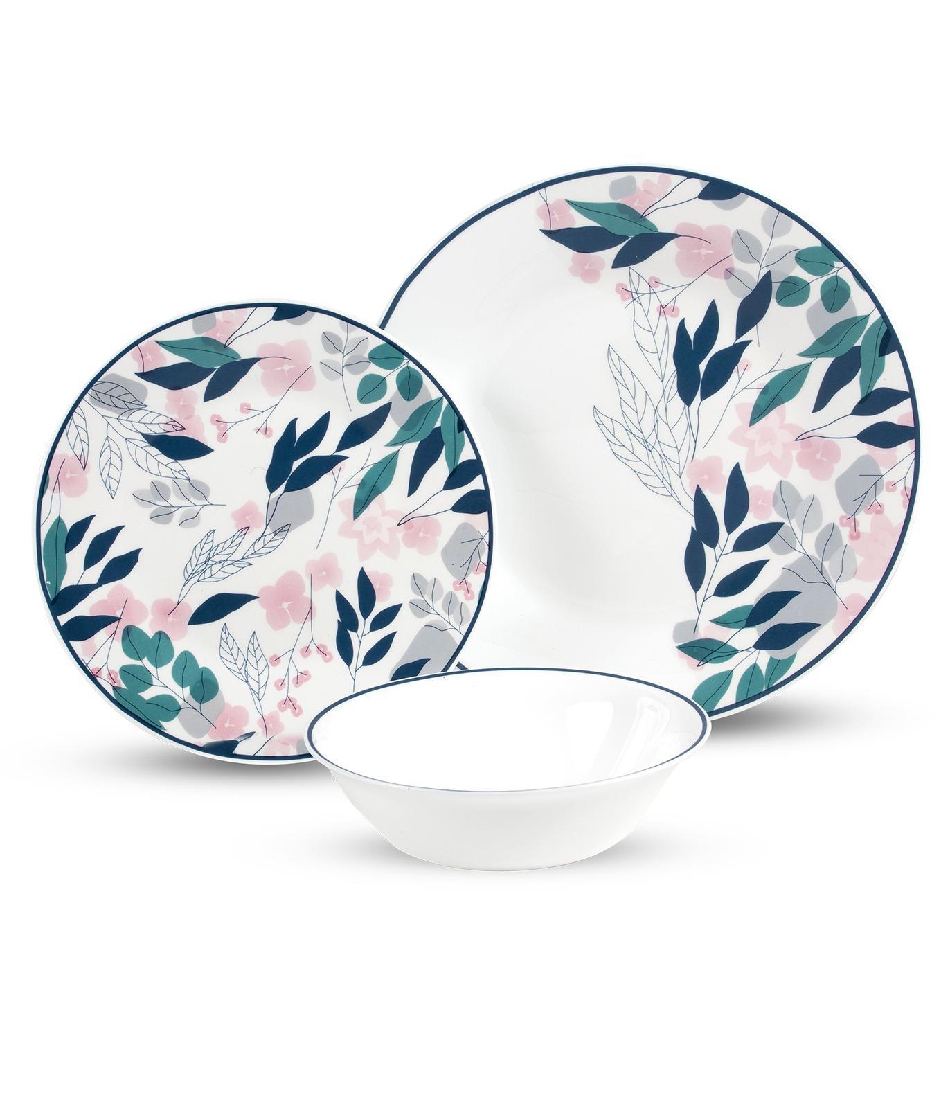 סט צלחות מעוטר מזכוכית אנטי צ'יפ 18 חלקים JAPANSES BLOSSOM מבית פוד אפיל (Food Appeal), 18 חלקים