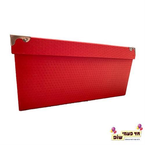 קופסא מתכת אדום מידה 7