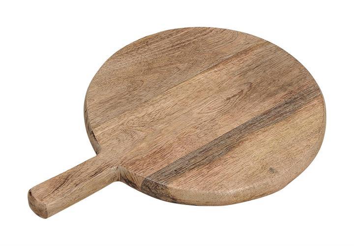 קרש חיתוך עגול מעץ מנגו