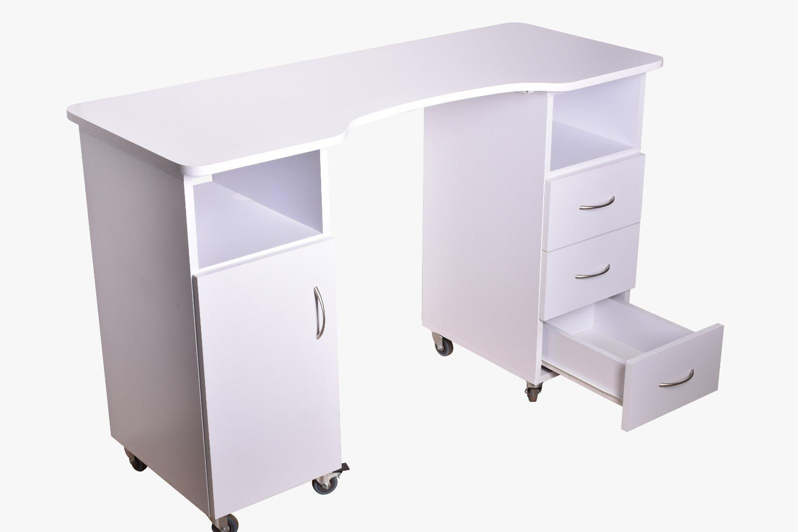 (איסוף עצמי מהחנות בלבד) שולחן עץ עם גלגלים S-04