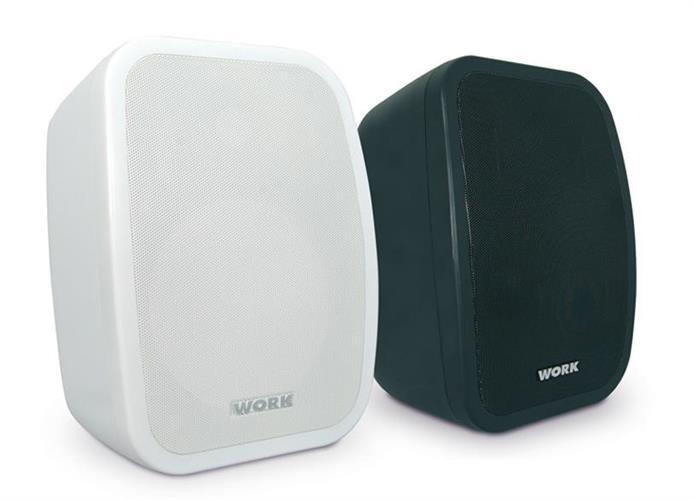 """רמקול להתקנה WORK NEO6 פלסטיק יצוק """"6.5 8OHM או שנאי קו,200W peak בצבע שחור או לבן"""