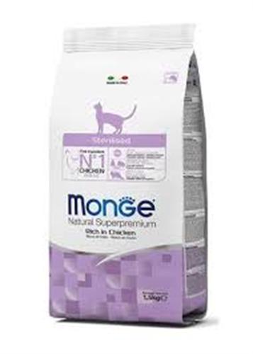 MONGE-חתול סטרלייז-עוף- 1.5 קג