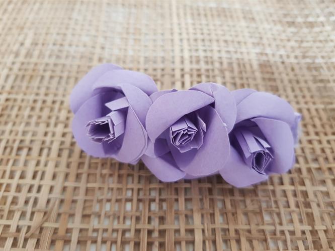 סיכה לשיער ורד סגול