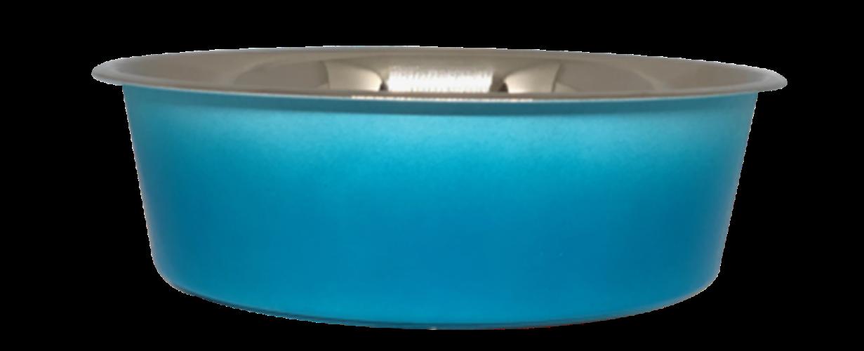 קערת מזון מעוצבת White Blue עם גומי בתחתית  למניעת החלקה בנפח 0.30 ליטר