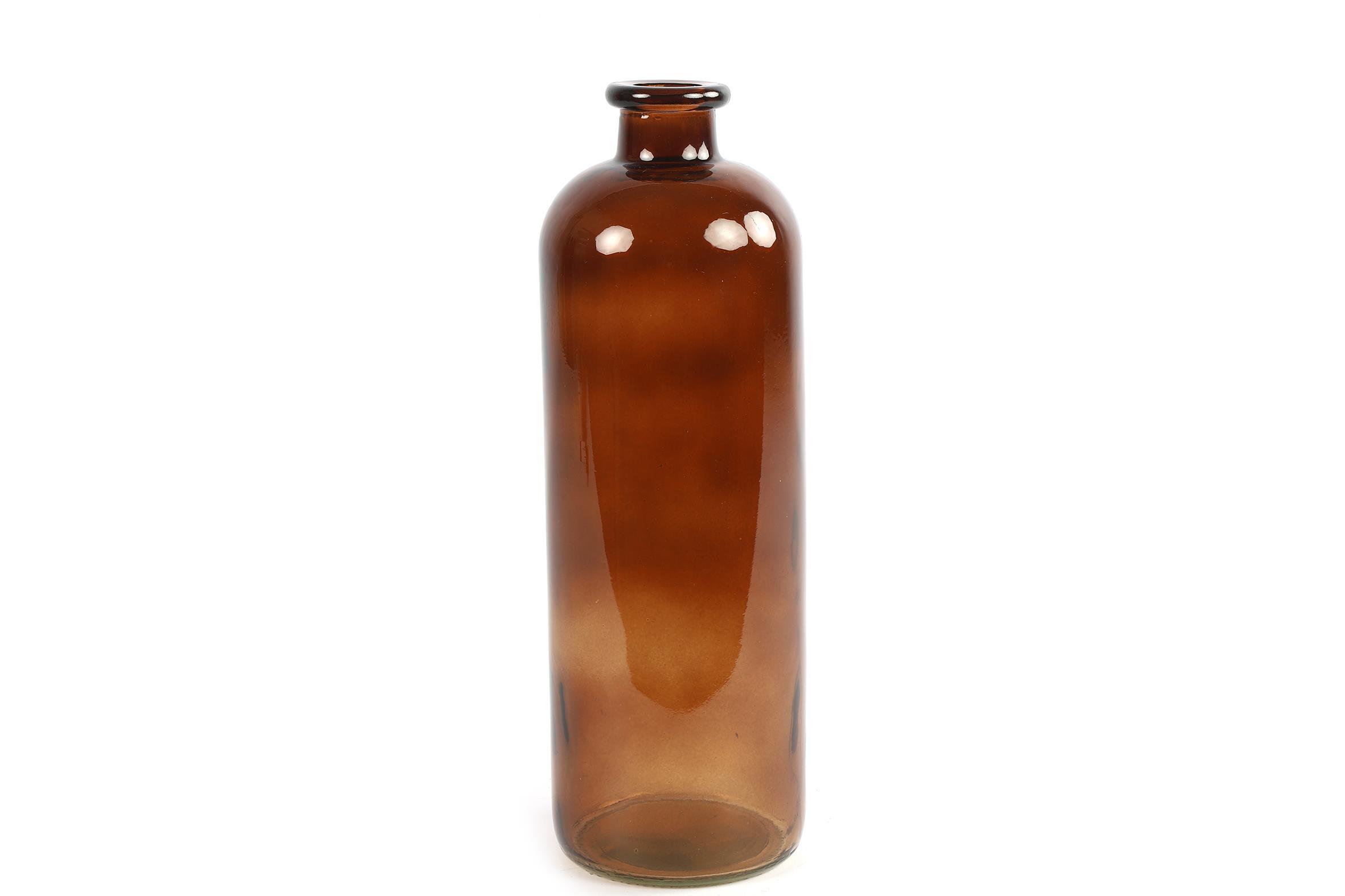 בקבוק זכוכית בגוון חום L