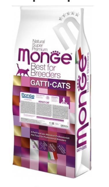 MonGe. מונג לחתול בוגר היירבול 10 קג