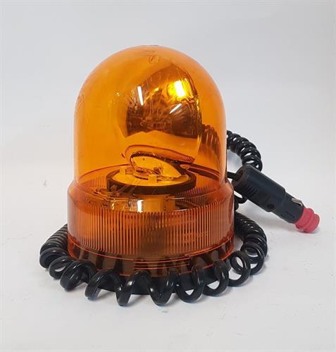 פנס גג מהבהב גבוה מגנט צהוב ביטחון - צהוב 12V