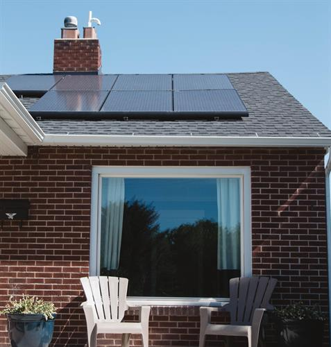 רכיבים לגג סולארי 6KW גג בטון