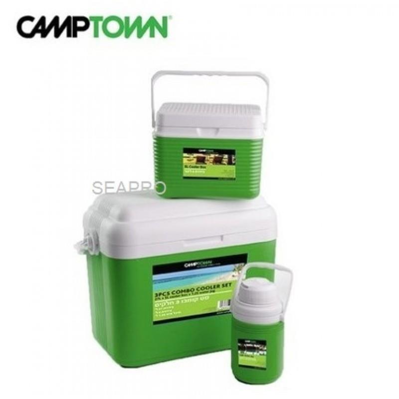 סט צידניות קשיחות שומרות קור 27 ליטר+5 ליטר+ 1.5 ליטר תוצרת CAMPTOWN