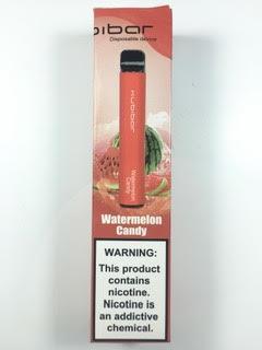 סיגריה אלקטרונית חד פעמית כ 1500 שאיפות Kubibar Disposable 20mg בטעם אבטיח סוכריות Watermelon Candy