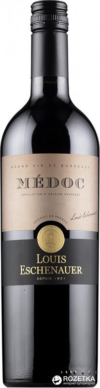 """יין צרפתי   MEDOC LOUIS ESCHENAUER  אדום יבש  750 מ""""ל"""