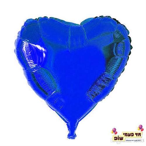בלון לב 18 אינץ' כחול (ללא הליום)