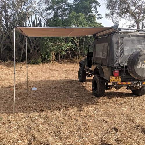 סככת צל 2 מטר על הרכב נפתחת 2.5 מטר